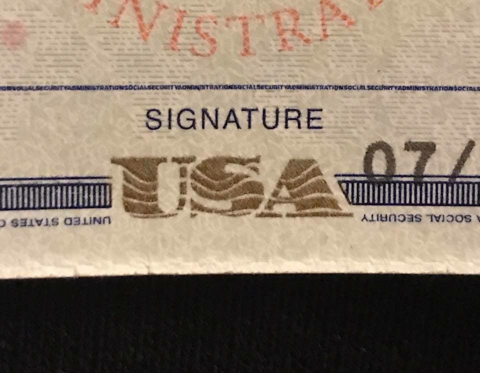 Did You Know The Signature Line On A Social Security Card Is Actually Micro Print Micro Print Print Social Security Card