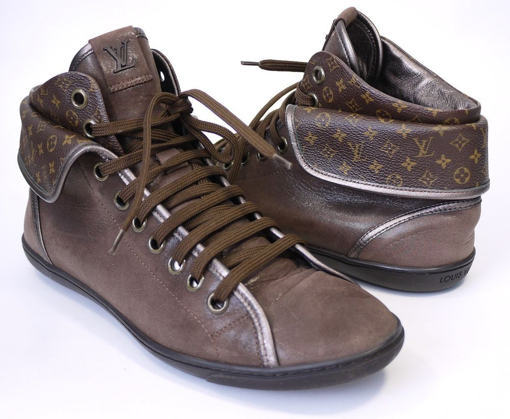 838f7998efb Louis Vuitton Womens Shoes Size-41 uk-7.5 Brea Logo Fold Over High Top  Sneakers