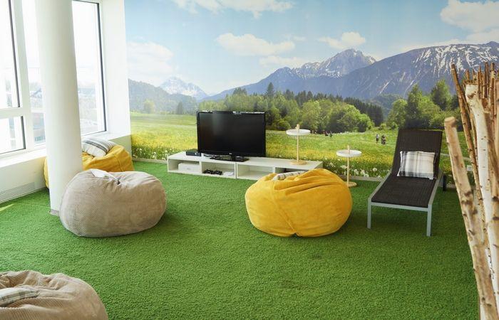 les espaces de d tente les plus cool de la plan te salle de pause. Black Bedroom Furniture Sets. Home Design Ideas
