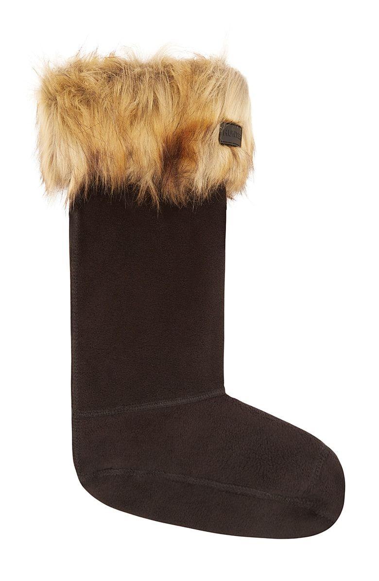 Hunter Faux Fur Cuff Tall Boot Sock at | Tall