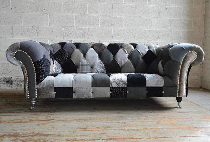 Walton Patchwork Chesterfield Sofa Furniture Sofa Colors Upholstered Sofa