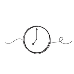 Clock Line Drawing Stock Photos Royalty Free Images Vectors Video Line Drawing Clock Icon Line Art Drawings