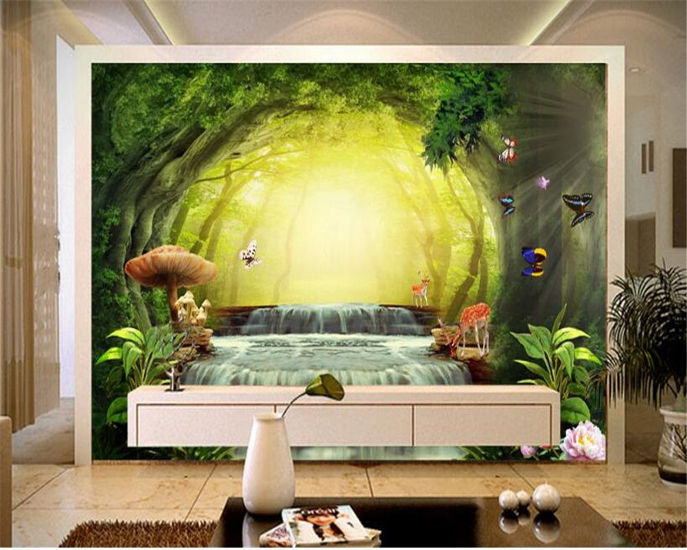 Beibehang Beautiful dream forest children room decoration wallpaper ...
