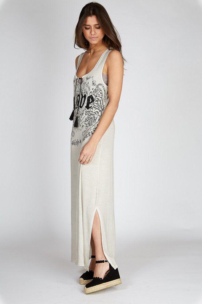 Jurk lang grijs #spring #dress #grace #bohemian #ibizastyle