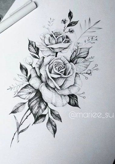 21 Ideas Tattoo Rose Dotwork Tat Rose Tattoos Tattoos Flower Tattoos