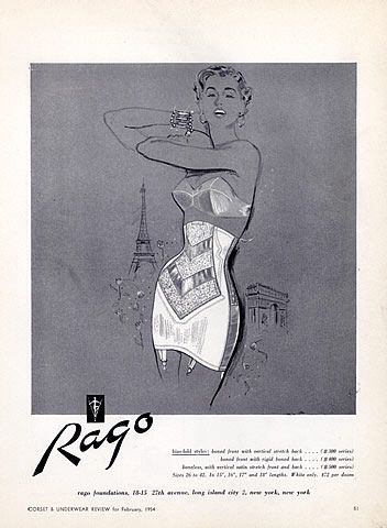 0ea32f811bdf8 Rago open high waist girdle - advert 1954 Vintage Girdle
