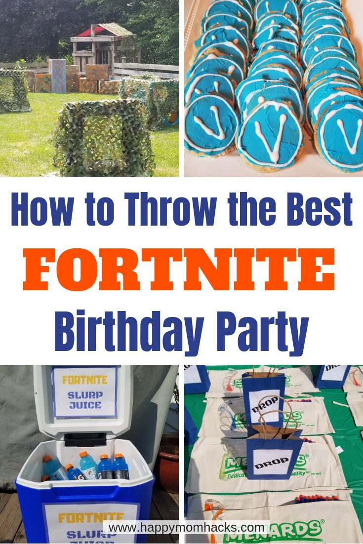 Best Fortnite Birthday Party Ideas, Games & Supplies Updated 2020 | Happy Mom Hacks