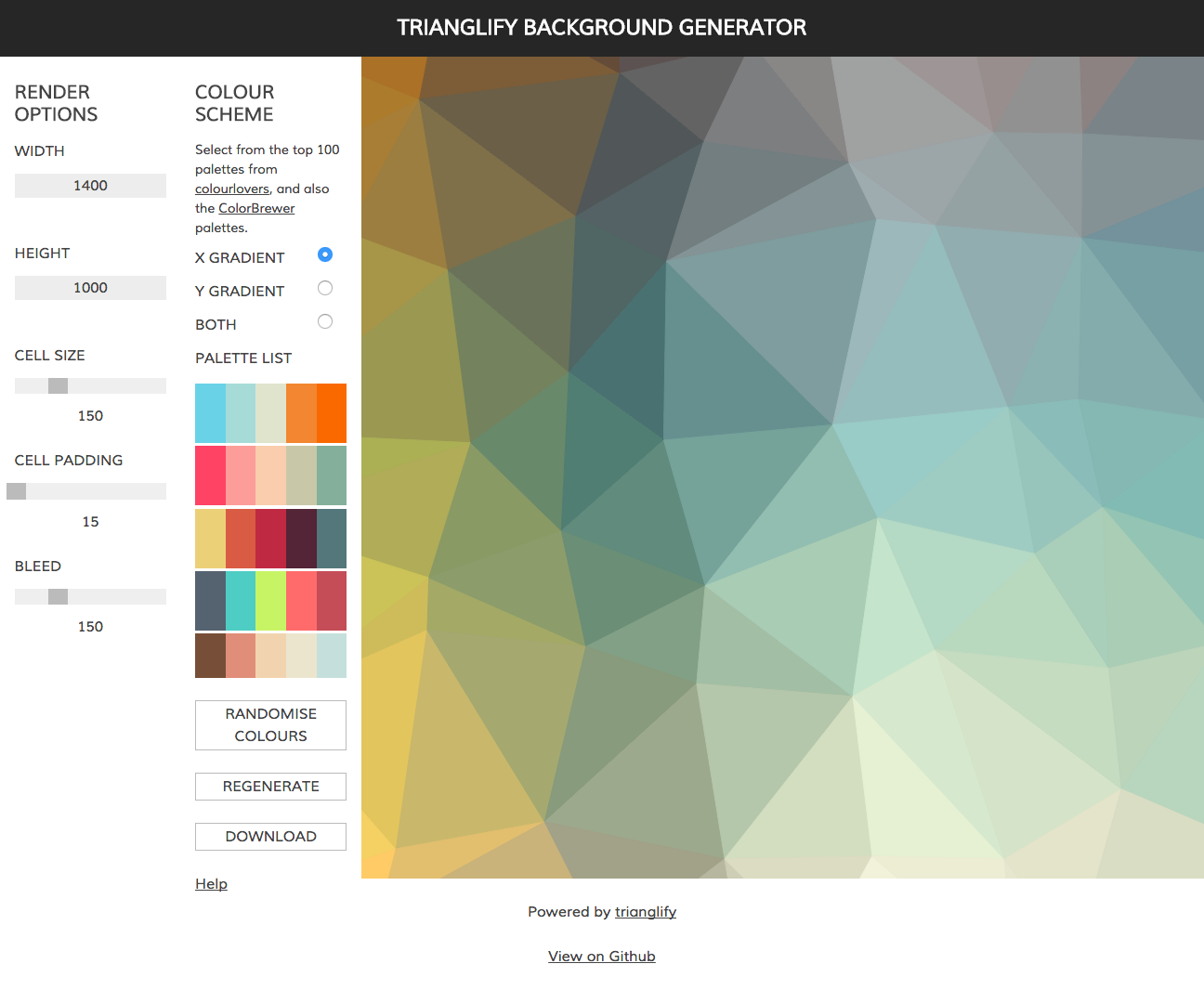 TRIANGLIFY BACKGROUND GENERATOR | Design: Digital | Pinterest ...