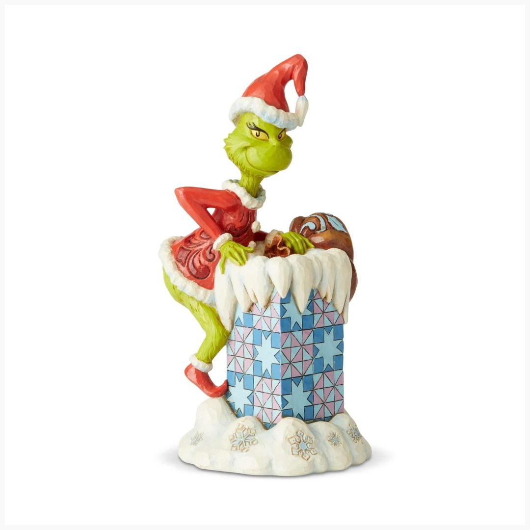 Dr Seuss The Grinch Climbing In Chimney By Jim Shore Statue Jim Shore Grinch Who Stole Christmas Grinch