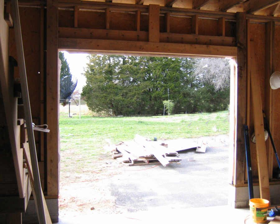 Framing For Garage Door Tracks