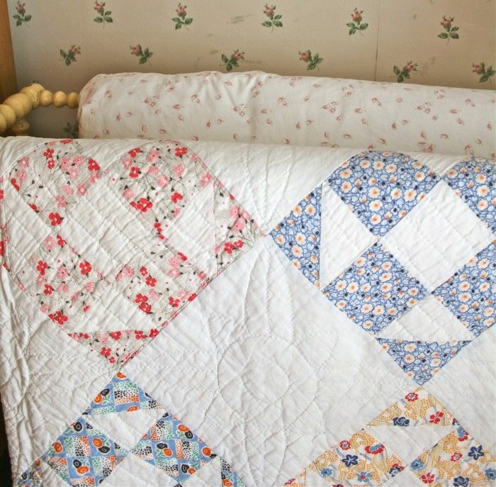 Love The Old Quilts That Are Somewhat Faded And Show That