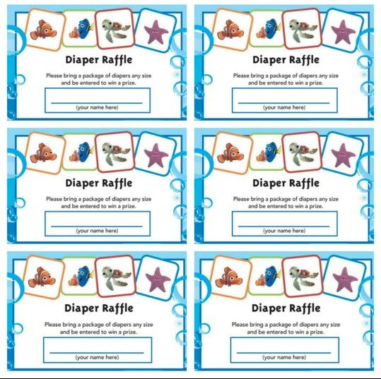 Free-Printable-Diaper-Raffle-Tickets-Pin with Free Printable Baby