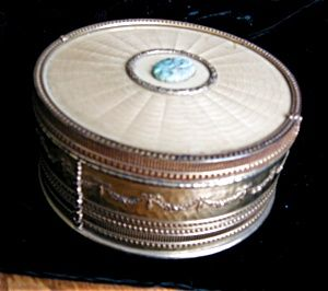 Vintage Apollo powder box for sale at More than McCoy on TIAS at http//www.morethanmccoy.com