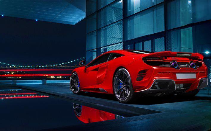 Download Wallpapers Mclaren 675lt Night Supercars Red 675lt Sportcars Mclaren Besthqwallpapers Com Car Wallpapers Mclaren 675lt Super Cars