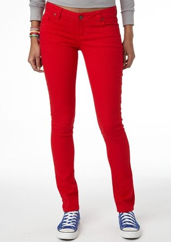 Britt Low-Rise Skinny Jean Red from Delias on shop.CatalogSpree.com, your personal digital mall.