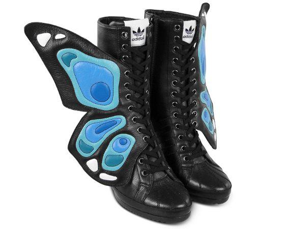 online store 8d92d 24fd4 Adidas Originals BY Jeremy Scott (JS-Wings-Wedge-Butterfly-Shoes)