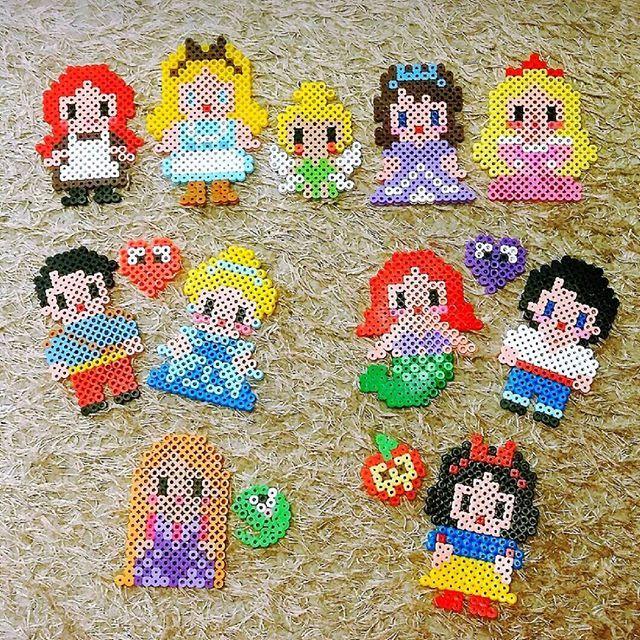 Princess Beads: Disney Princess Perler Beads By Seolhwayu