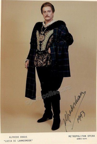 Kraus, Alfredo - Signed photo in Lucia di Lammermoor