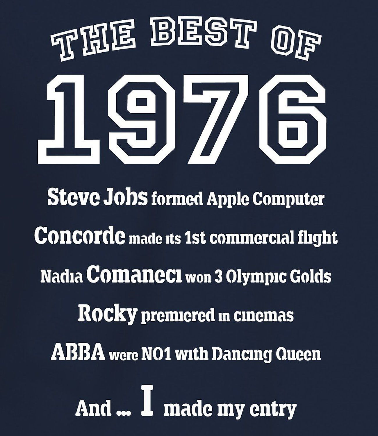"Turning 40 Quotes Camiseta Para Hombre ""the Best Of 1976"" Para Regalo De 40"