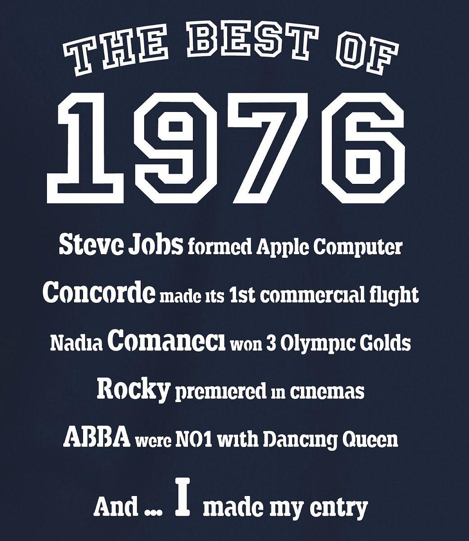Camiseta Para Hombre The Best Of 1976 Para Regalo De 40