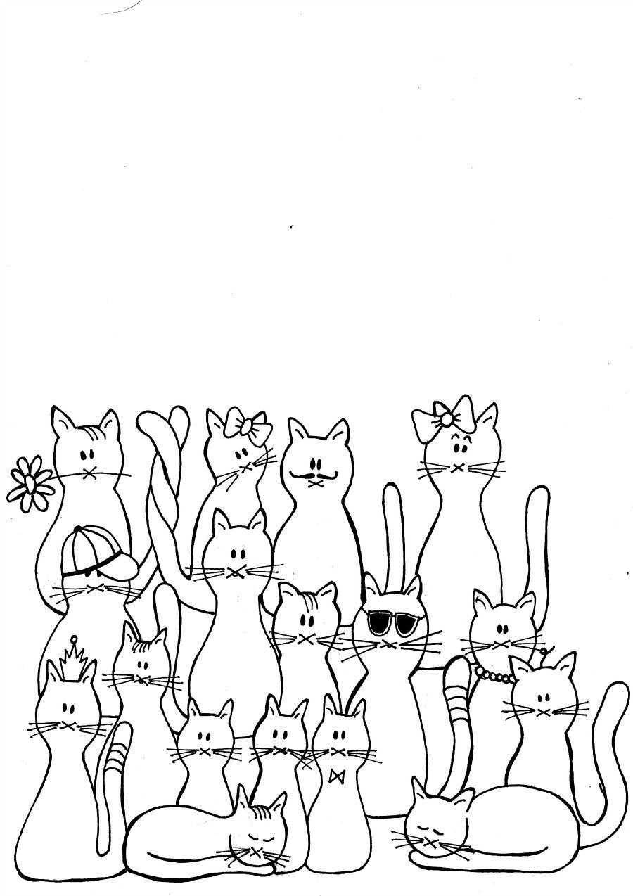 Kleurplaten Cats Flowers Mama Maai Kleurplaten Kleurplaten Voor Kinderen Knutselwerk