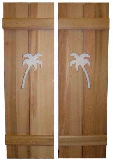 Palm tree shutter cutouts for the garden Pinterest Palm