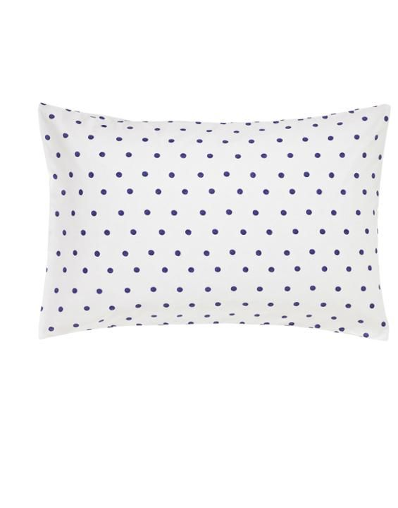 Polka Dot Pillowcases Classy Pcasehwbluspotblue Polka Dot Housewife Pillowcase  Spring Inspiration Design