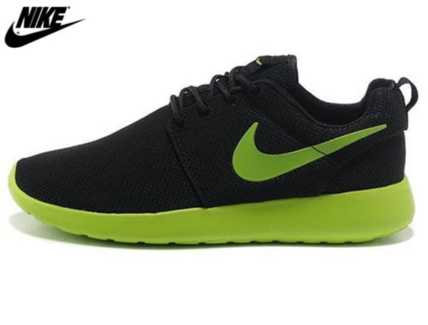 998c33b4a4 ... buy 2013 mens nike roshe one mesh running shoes black greennike shoes  sale online 0745b b68f9
