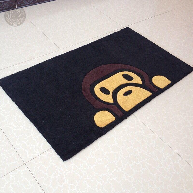a0e935bb NEW Fashion A Bathing Ape Bape Rectangle and Round Carpet Rug Monkey Home  Decor #BAPE