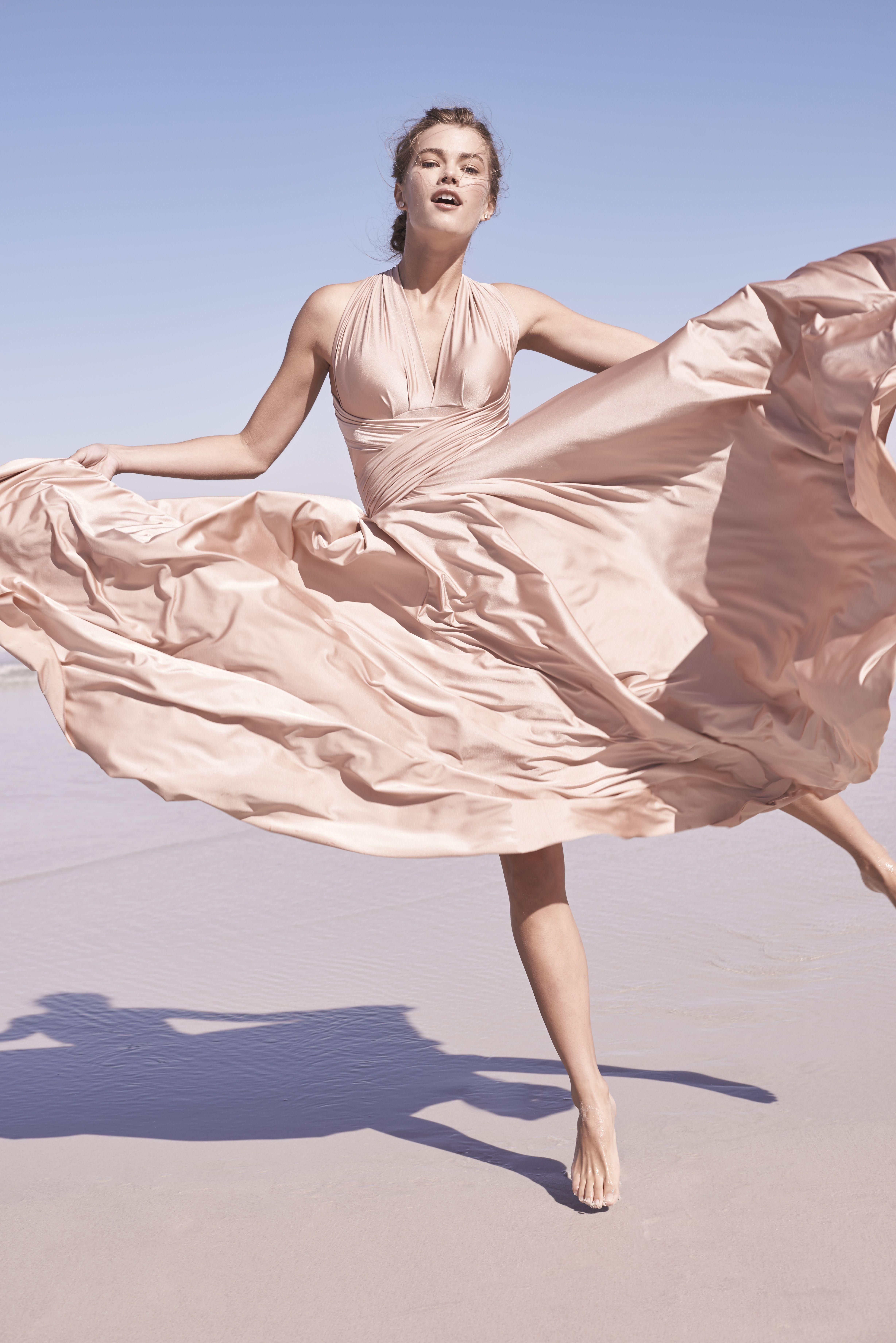 pink convertible bridesmaids dress | Ginger Convertible Maxi Dress ...