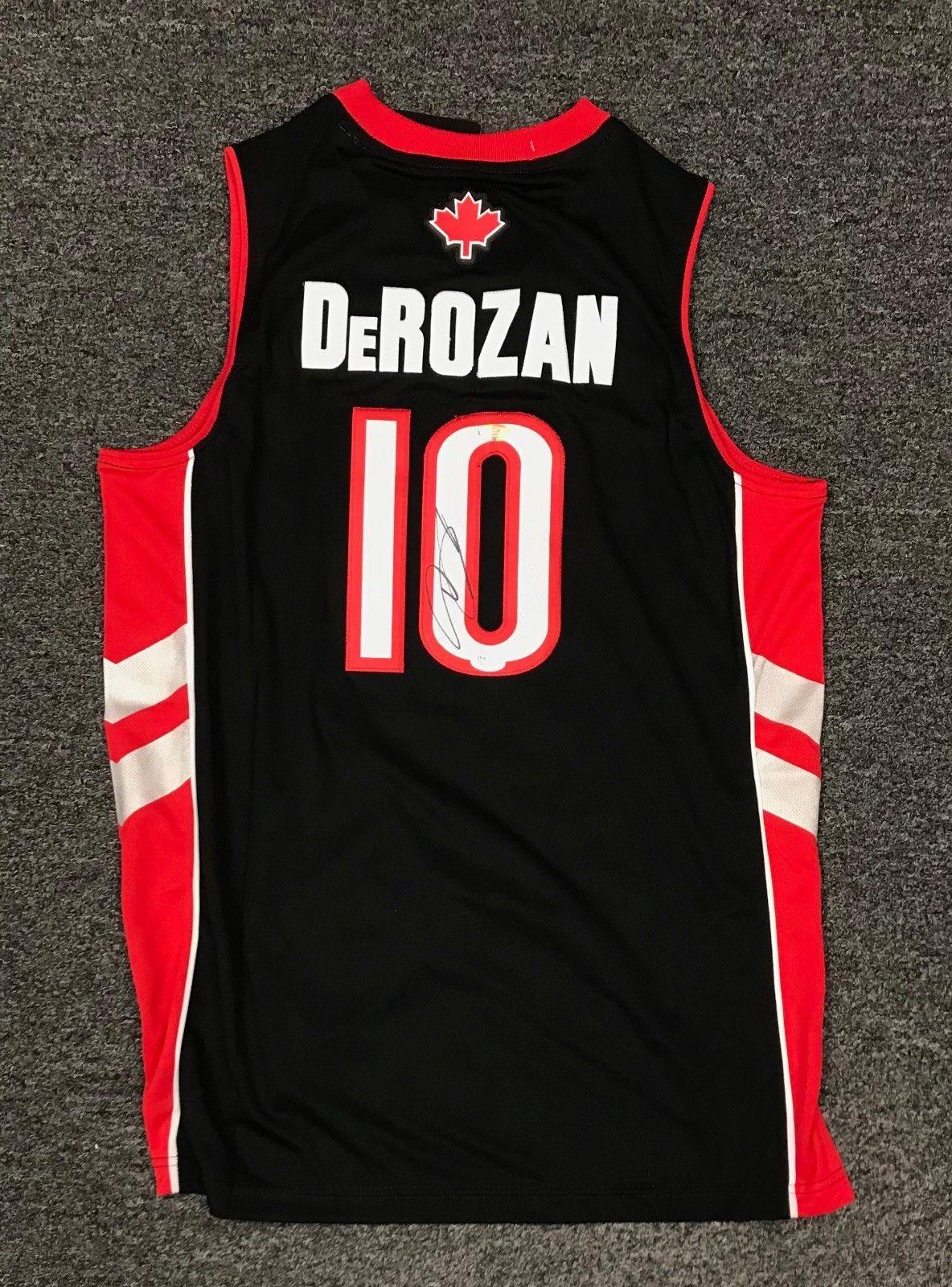 Demar DeRozan  10 Signed Toronto Raptors Jersey Autograph AUTO Sz XL JSA COA   Basketball ddb077e8d