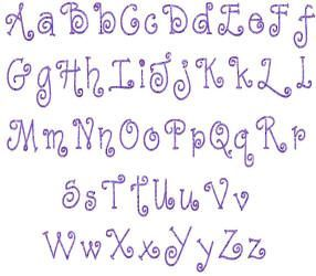 Macybugs Simple Embroidery Alphabets And Fonts Curlz Double Layer Curly