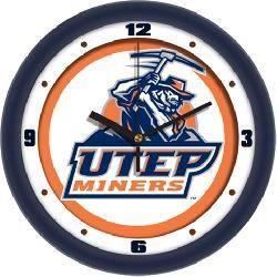 UTEP Miners Glass Wall Clock