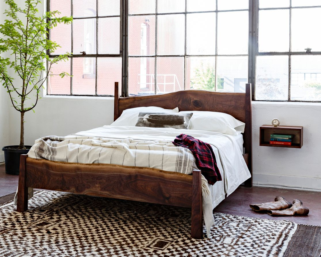 Obsessed with this Live Edge Bed! | Wood bedroom furniture ...