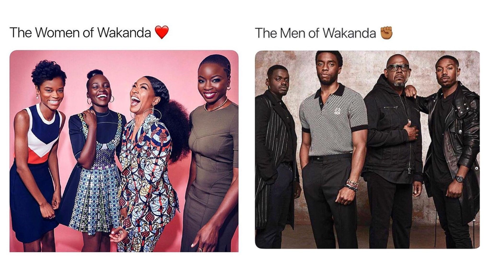 The men and women of Wakanda