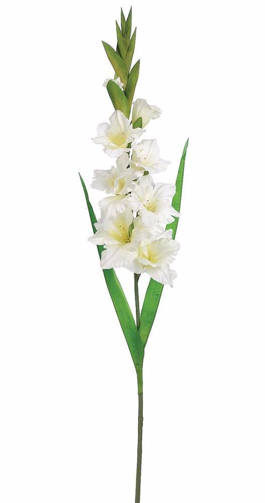 Artificial Gladiolus Silk Flower In White 36 5 In 2020 White Floral Arrangements Silk Flowers Wedding White Wedding Flowers