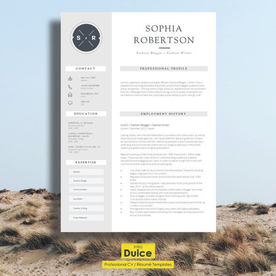 Creative Resume Template Teacher Resume Creative CV Design +