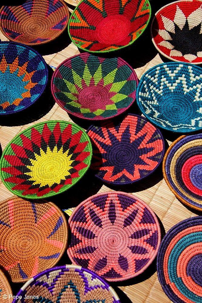 Colourful Baskets Swaziland Decoracao Etnica Artesanal Como
