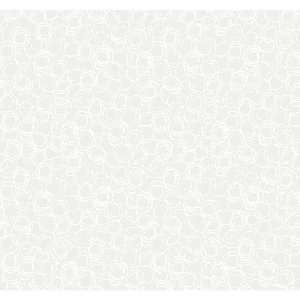 "Wallpapher Princess Cut 27' x 27"" Geometric Flocked Wallpaper"