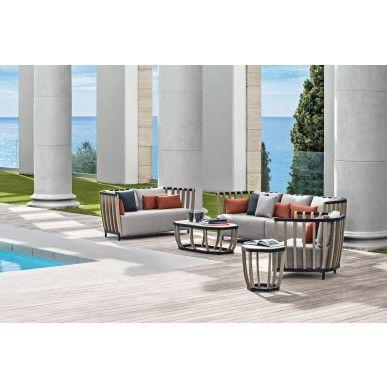 Ethimo Swing 2-zits Tuin-Loungebank - Teak - Sunbrella® Tuin - lounge gartenmobel gunstig