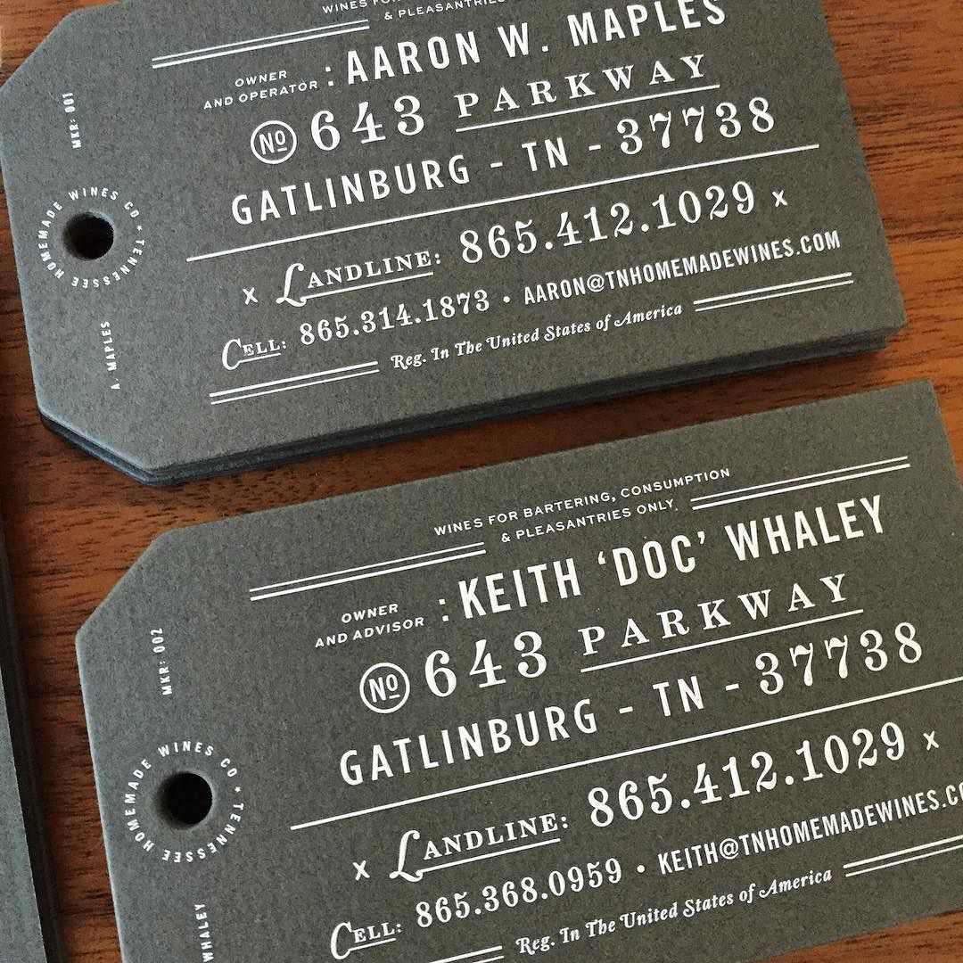 Another shot of the tennessee homemade wines business card hang tags another shot of the tennessee homemade wines business card hang tags you gotta feel emoh so tactile by chadmichaelstudio colourmoves Images