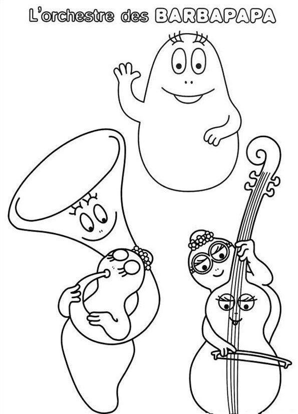 Coloriage barbapapa coloring pages coloring pages coloring pages for kids et job pictures - Barbapapa dessin ...