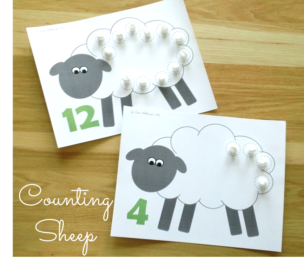 Counting Sheep Math Activity Perfect For Spring Easter Or Farm Units Farm Math Activities Math Activities Preschool Farm Theme Preschool [ 913 x 1021 Pixel ]
