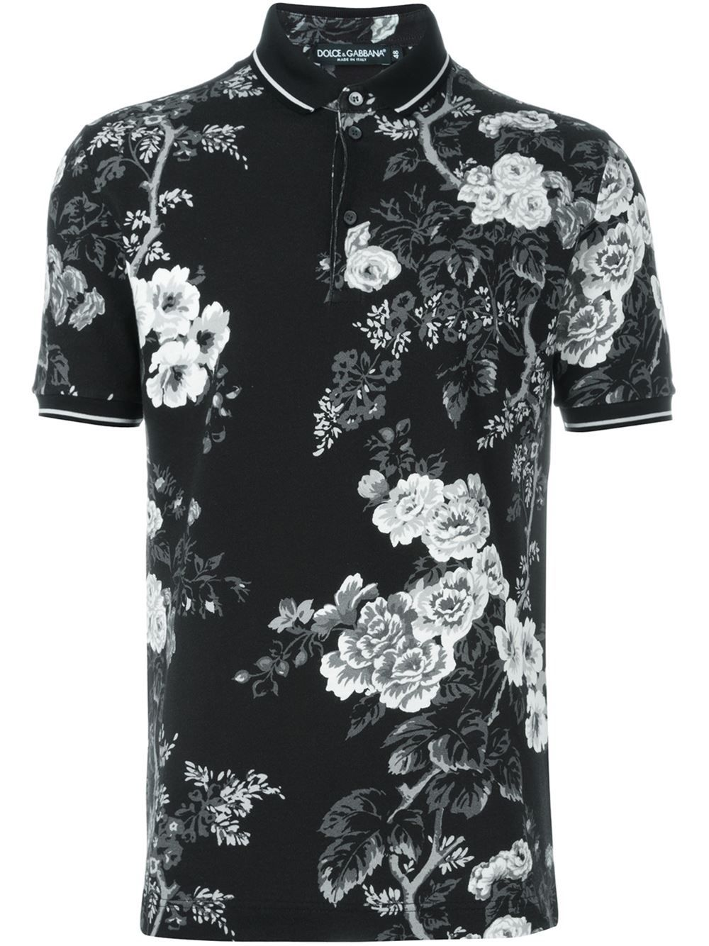 5dcad351d99 Dolce & Gabbana Floral Print Polo Shirt - Coso - Farfetch.com | t ...