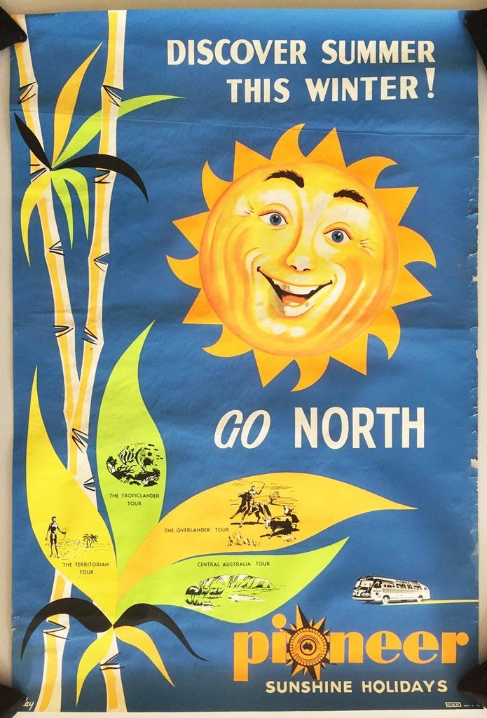Discover Summer this Winter ! Go North - Pioneer Sunshine Holidays - 1960's - (Klay) -