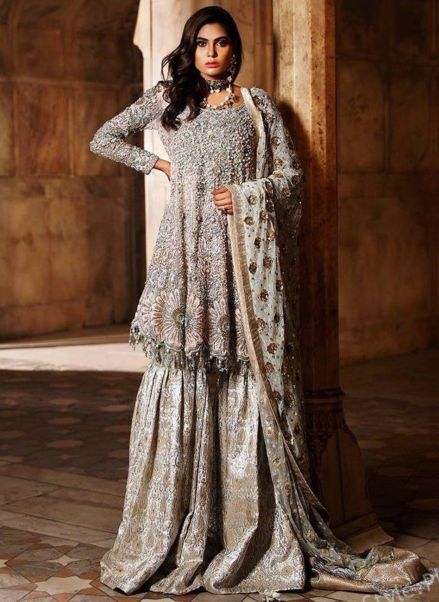 2019-2020 Collection consists of Top Designer fancy #Embroidered Sharara dresses!   #shararadesigns
