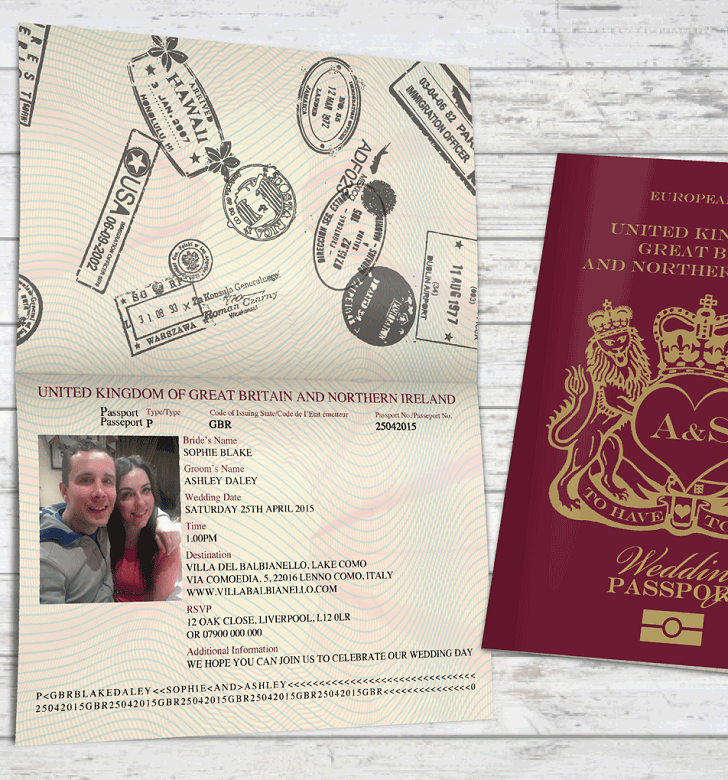 Passport stamps for wedding invitations, passport wedding ...