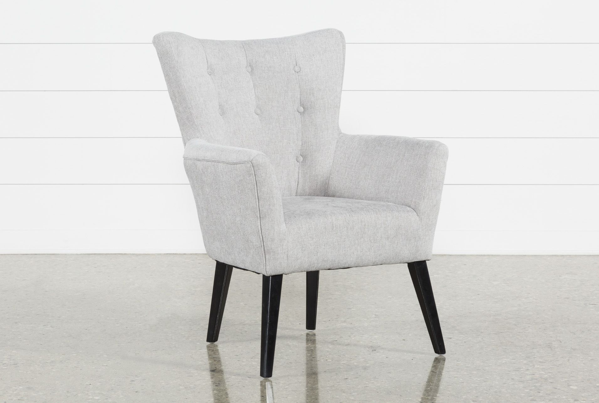 Kelsey Light Grey Accent Chair 195 Grey Accent Chair Accent