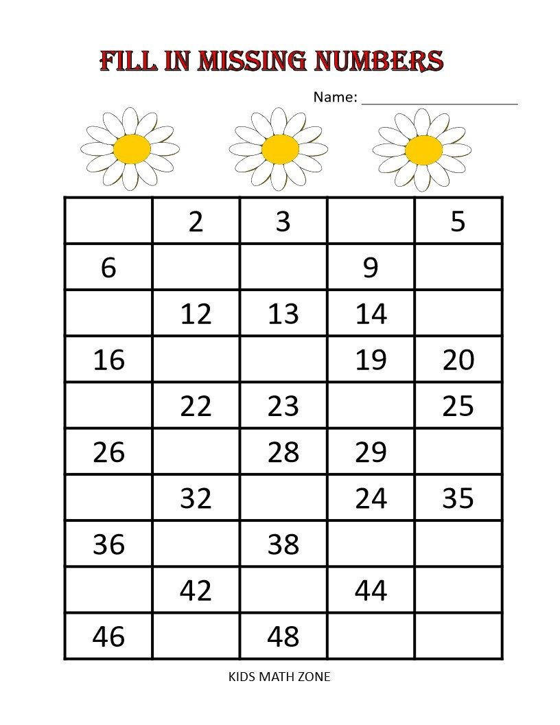 Fill In Missing Numbers Printable Worksheets Preschool Etsy Missing Number Worksheets Kindergarten Math Worksheets Kindergarten Worksheets Fill in missing number addition and