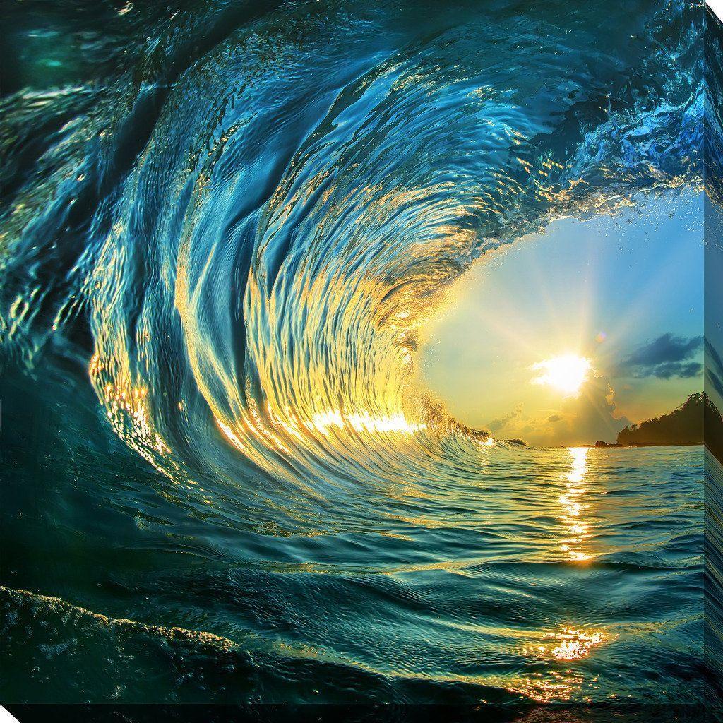 pipeline 3 giclee print canvas wall art in 2020 ocean on canvas wall art id=98791
